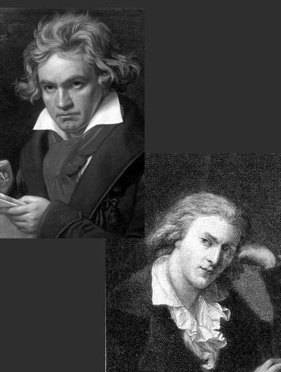 Composición de Beethoven y Schiller